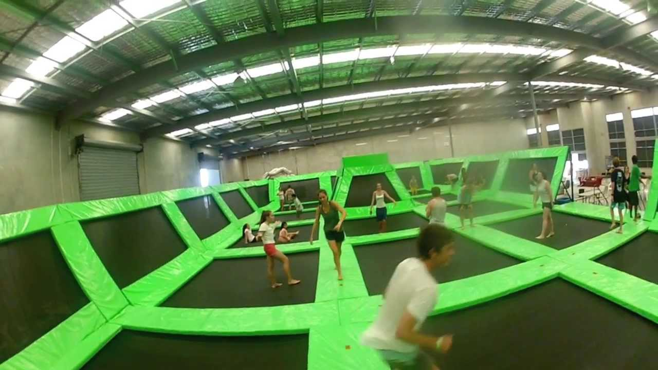 Image result for flip out trampoline park