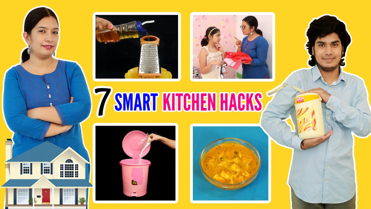 7 TIME Saving Amazing KITCHEN HACKS - You Should Know | CookWithNisha