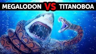 Co by było, gdyby megalodon napotkał największego węża na świecie