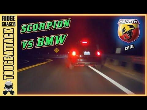Fiat 500 Abarth POV/Chase: Record Attempt On Canyon Road 峠 TOUGE ATTACK 11