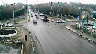 ДТП в Серпухове. Оба на жёлтый... 06 марта 2017г.(ДТП в Серпухове. Оба на жёлтый... 06 марта 2017г. IP-видеонаблюдение