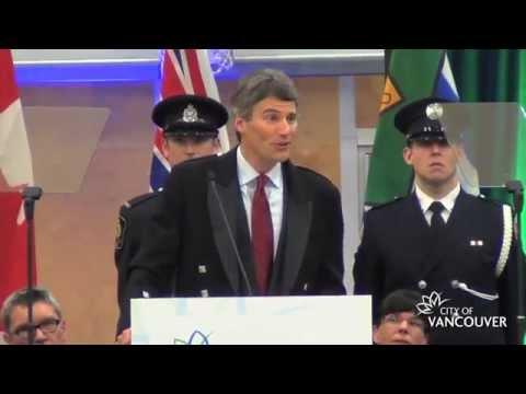 Mayor Gregor Robertson's Inaugural Speech