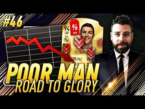 HUGE MARKET CRASH!!! WE GOT RONALDO FOR CHEAP!!! - Poor Man RTG #46 - FIFA 18 Ultimate Team