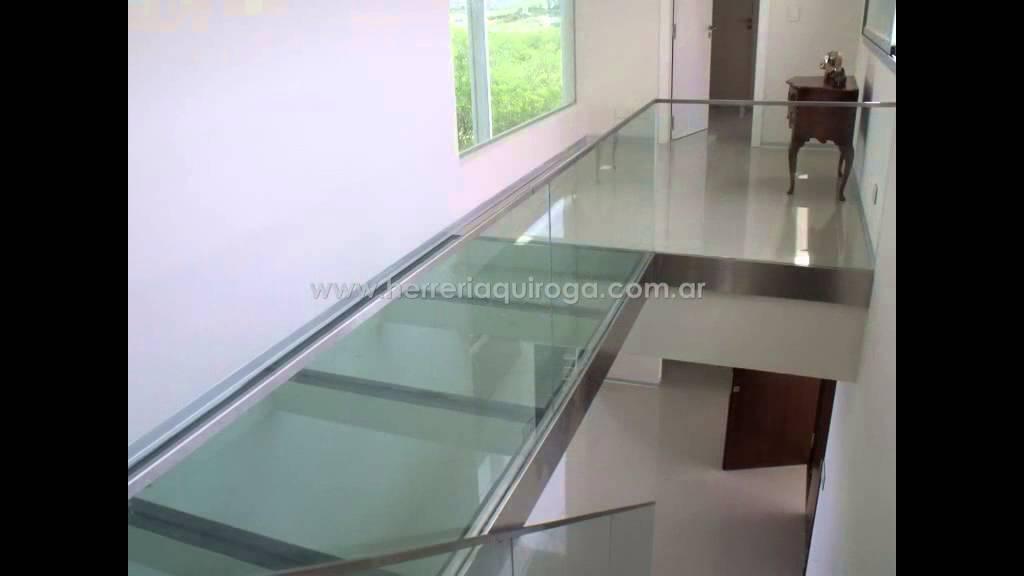 Puente de vidrio y barandas de vidrio templado youtube for Imagenes de techos modernos