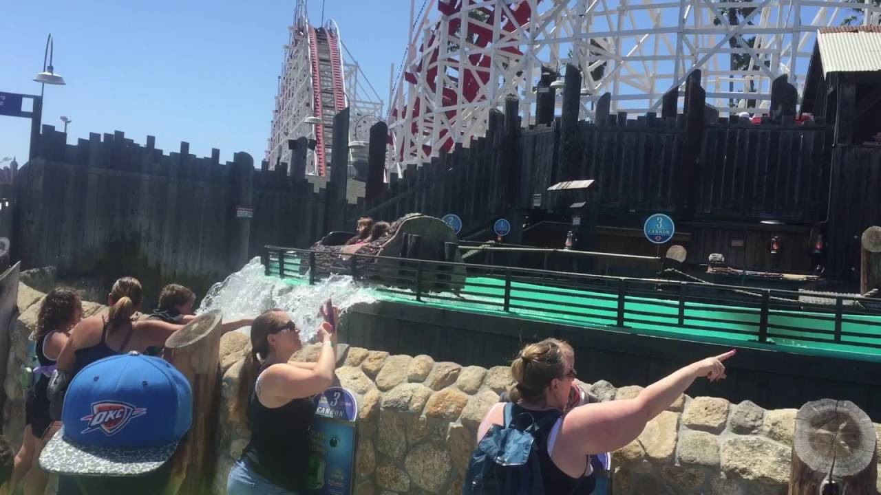 Log Ride At Santa Cruz Beach Boardwalk