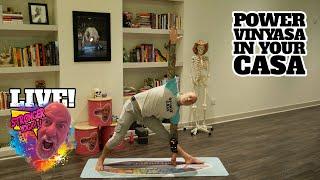 This vinyasa yoga class will smash your a$$!