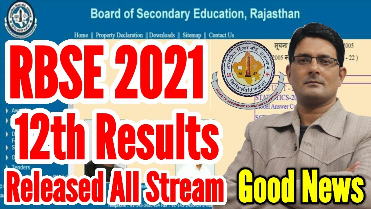 RBSE 12th Result 2021 Released | Rajasthan Board 12th Class Arts, Science & Commerce Result 2021