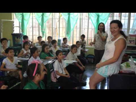 Giving gifts at a local school in Calamba, Laguna Philippines