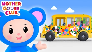 Baby Drives in Paint | Wheels on the Bus Color Song | Mother Goose Club Kid Songs and Baby Songs