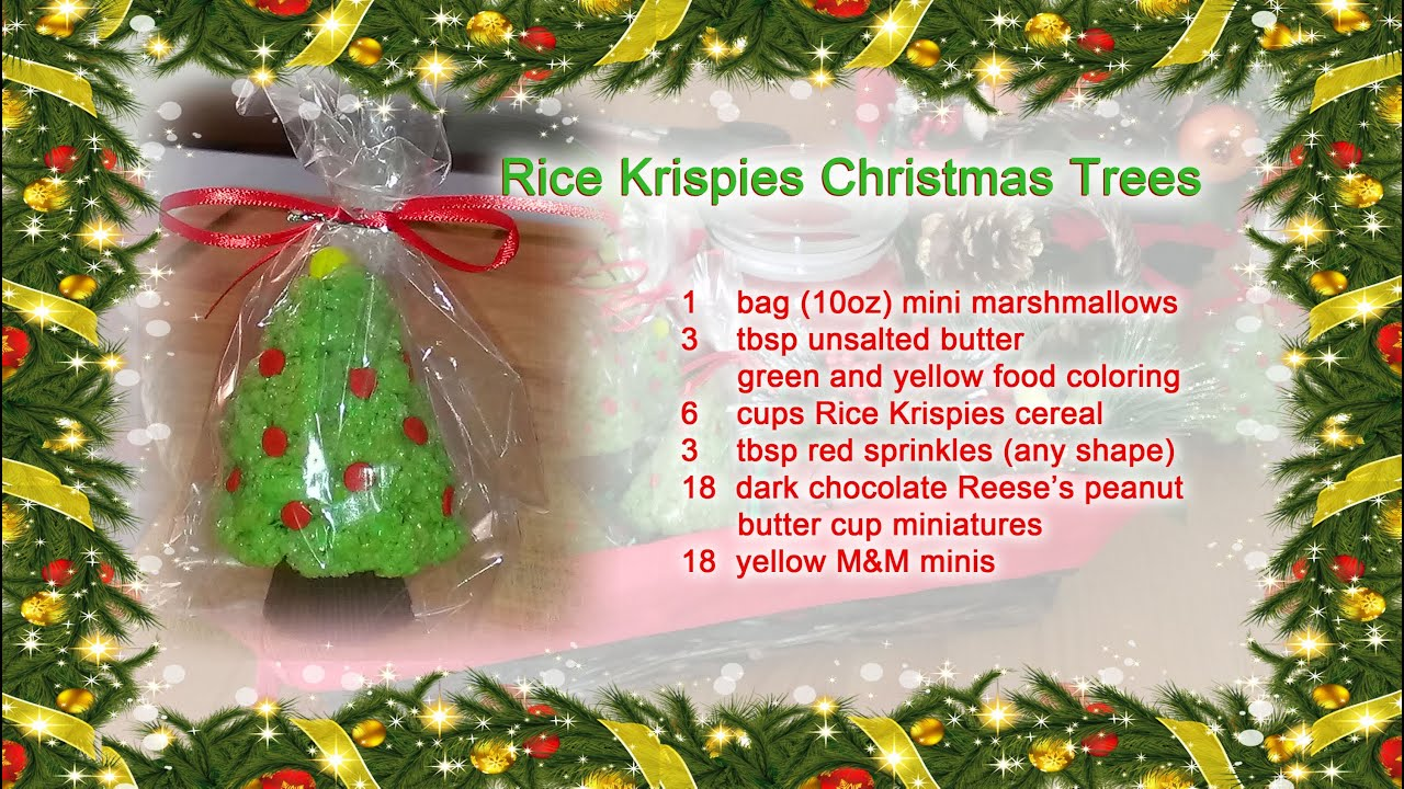 rice krispie treats christmas trees youtube