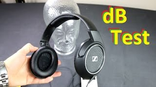 Sennheiser HD 429 headphones sound dB SPL test