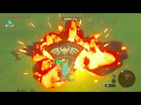 Zelda Breath of the Wild: Amazing Flying Record: 76158mt