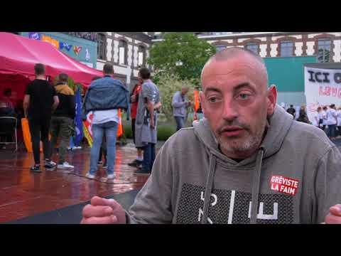 Moyens hospitaliers : grève de la faim et occupation des locaux (31 mai 2018, Sotteville-Lès-Rouen)