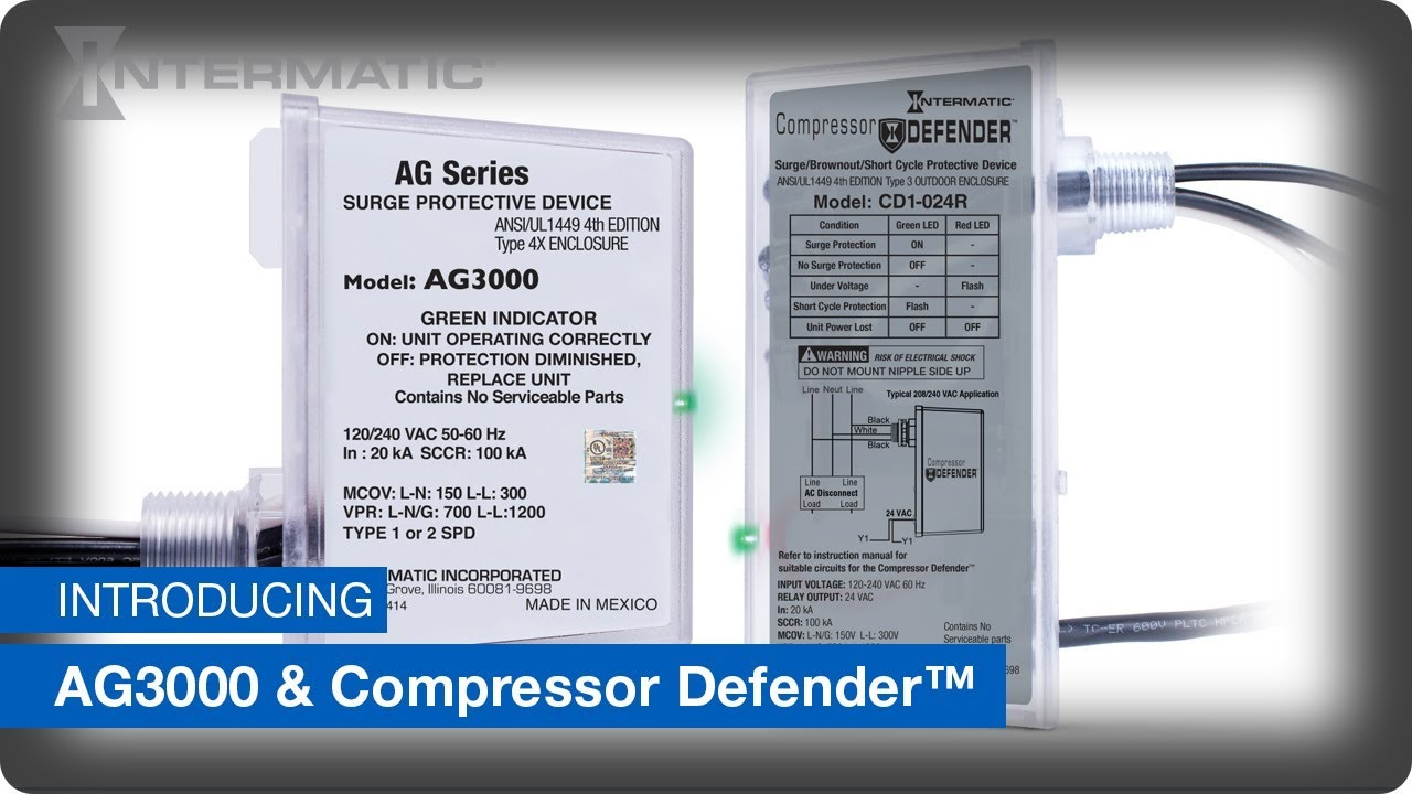 ag3000 & compressor defender™ protect against power surge events, brown  outs and short cycling