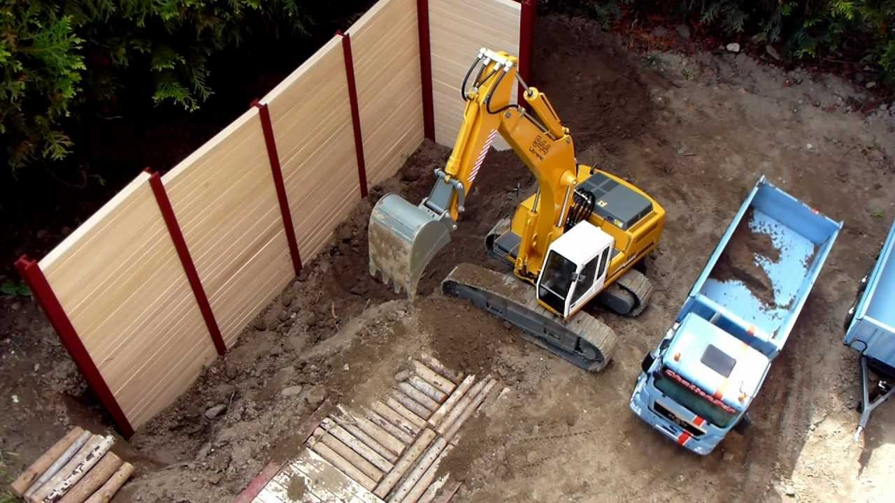 best of rc construction site excavator and dump truck uncut