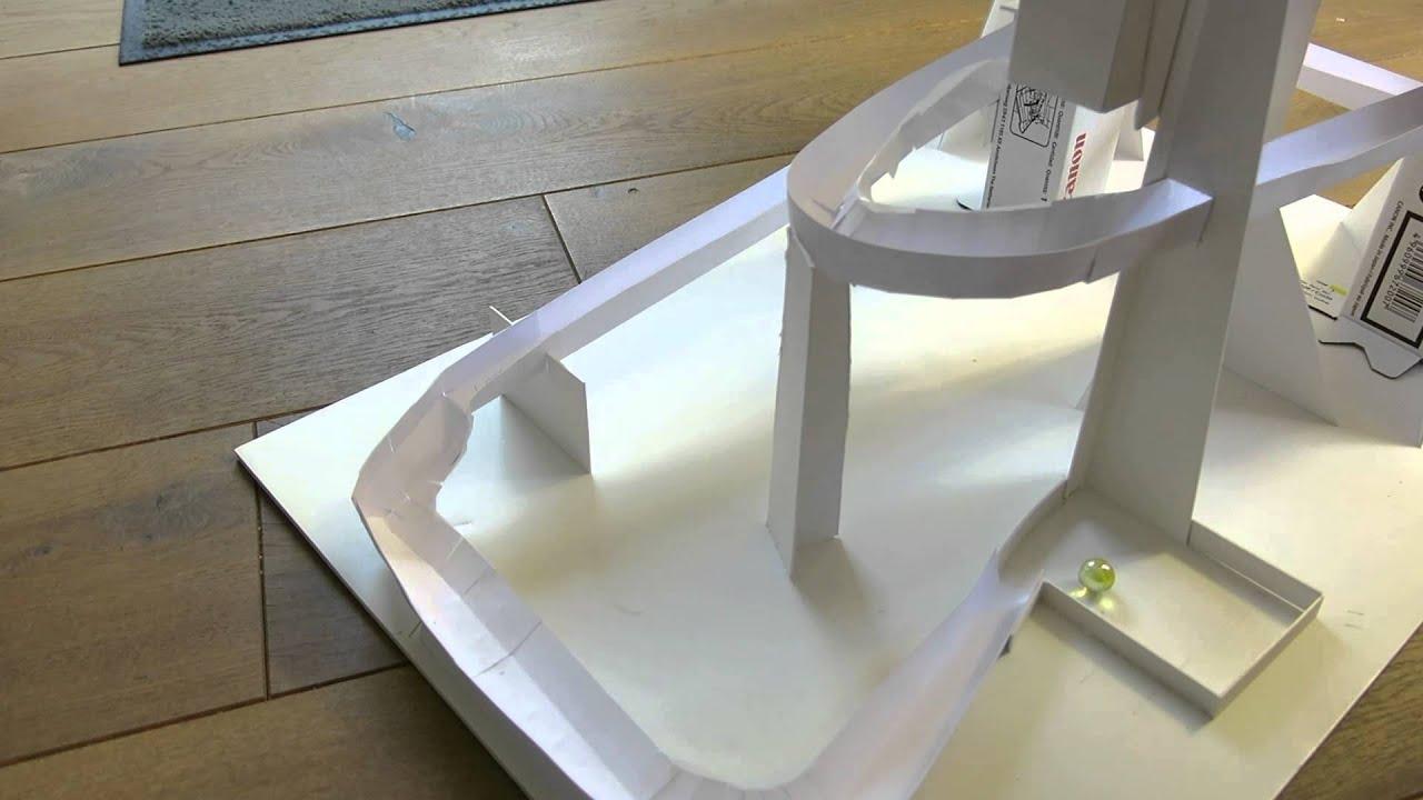 kugelbahn aus papier und karton 1 youtube. Black Bedroom Furniture Sets. Home Design Ideas