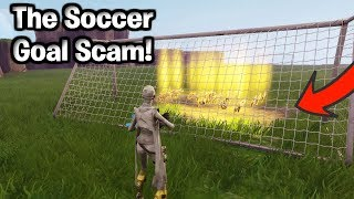 The Soccer Goal Scam For Whole Inventory! (Scammer Gets Scammed) Fortnite Save The World
