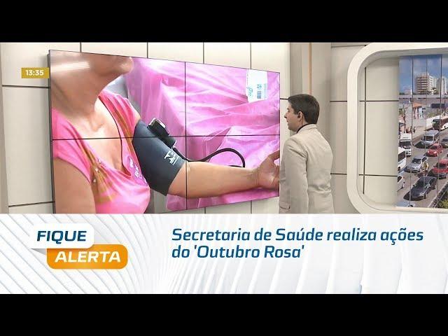 Secretaria de Saúde realiza ações do 'Outubro Rosa' no Benedito Bentes