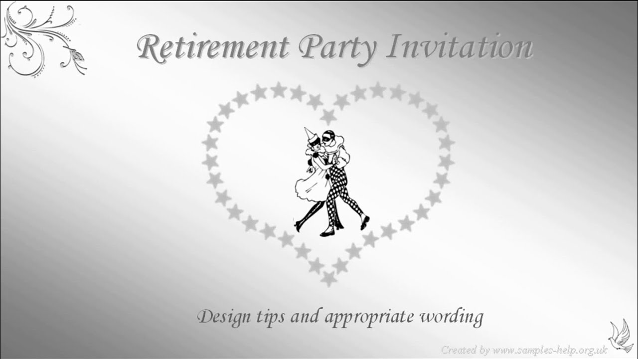 Retirement Party Invitation Wording - YouTube