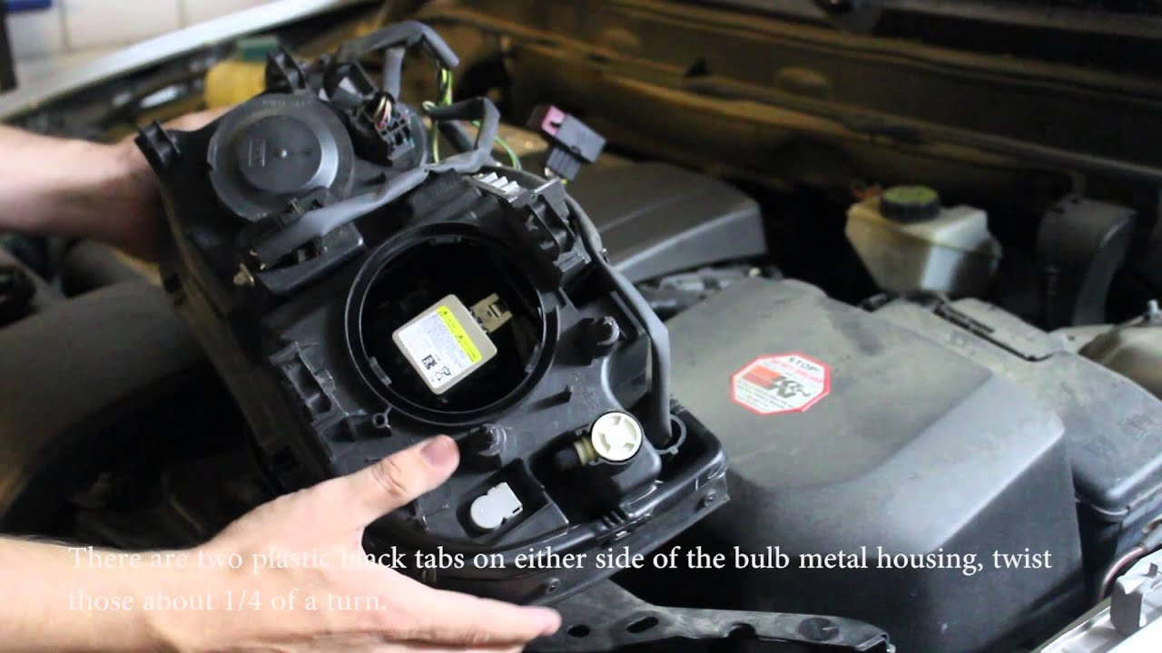 How To Replace Volvo Xc90 Hid Headlight Youtube