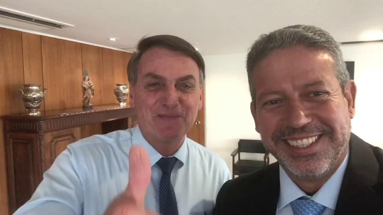 Bolsonaro grava vídeo em tom amistoso com líder do Centrão Arthur Lira -  YouTube