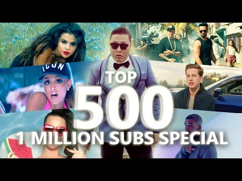 Top 500 Most Viewed Songs Of All Time February 2018 1 Million Special