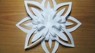 Как вырезать Снежинку из бумаги - Видеоурок