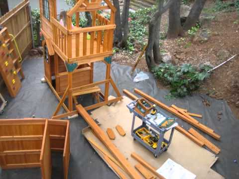 Cedar Summit Costco Play Structure Assembly Part 2 Youtube