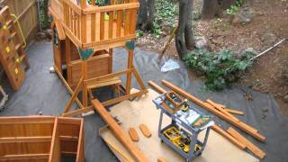 Cedar Summit (costco) Play Structure Assembly (part 2)