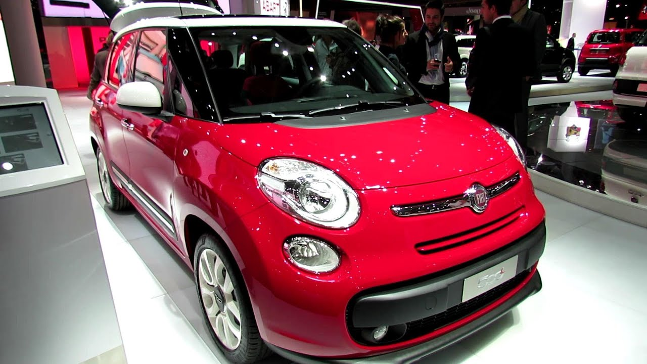 Fiat 500 Pop >> 2013 Fiat 500L Pop Star - Exterior and Interior Walkaround - 2012 Paris Auto Show - YouTube