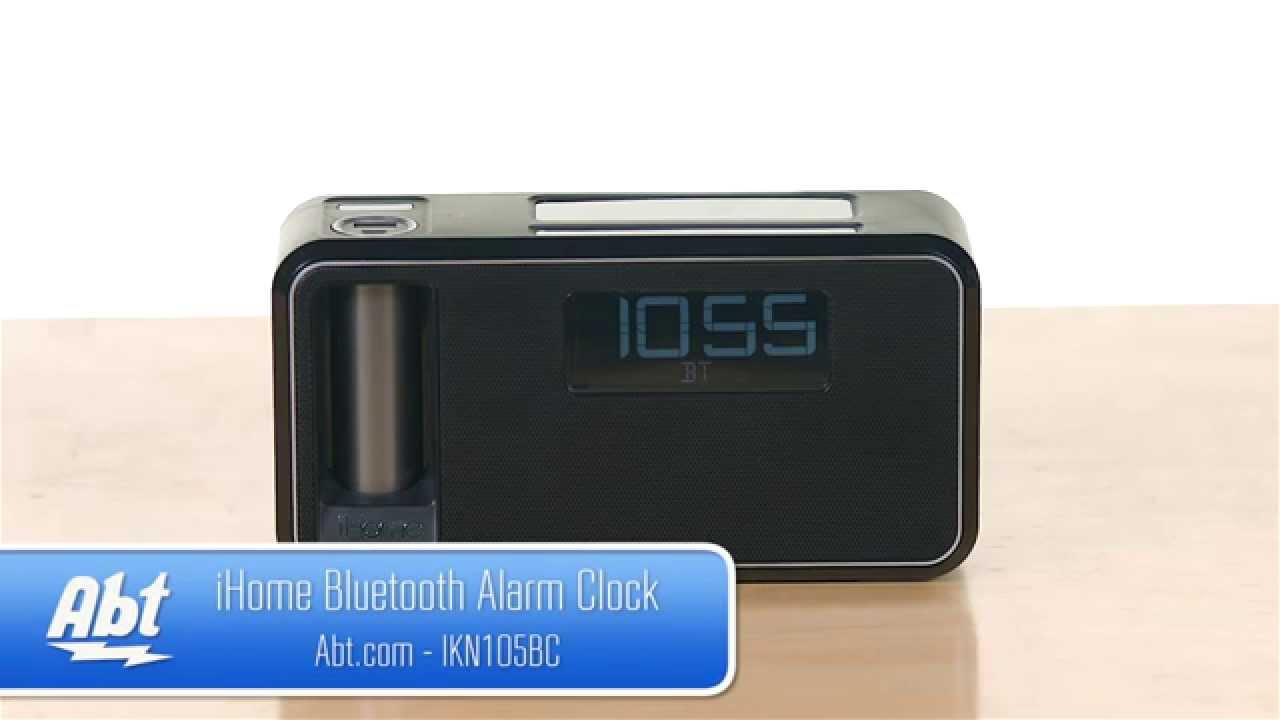 iHome Black Dual Charging Bluetooth Alarm Clock iKN105BC - Overview