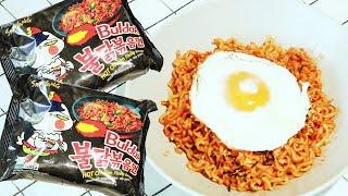 Как готовить острый корейский рамен | How to cook hot chicken flavor ramen | Spicy noodles | Buldak