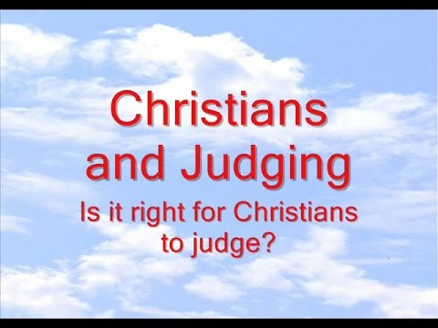 Christians And Judging