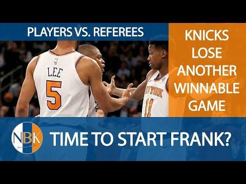 New York Knicks lose to Memphis Grizzlies ; Start Frank Ntilikina? Players vs Refs; NYK vs UTA
