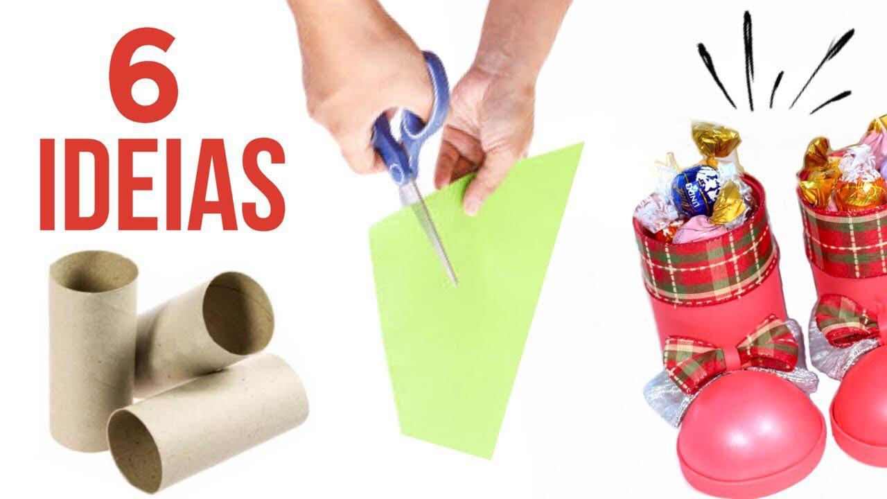 Ideias De Natal ~ 6 Ideias de Artesanato para o Natal YouTube