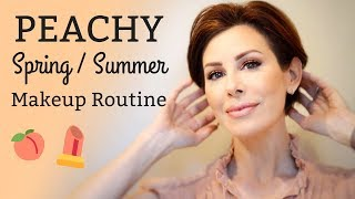 Peachy Spring-Summer Makeup Routine 🍑| Dominique Sachse