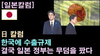 """[일본칼럼] 日 칼럼 """"한국에 수출규제, 결국 일본 정부는 무덤을 팠다"""""""