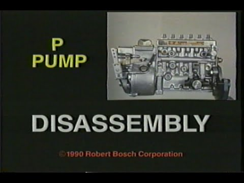 BOSCH P-Pump Disassembly