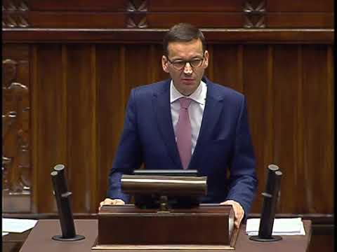 Morawiecki przedstawia projekt budżetu na rok 2018