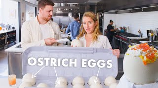 Download Pro Chef Learns How to Cook Ostrich Eggs | Bon Appétit Mp3 and Videos