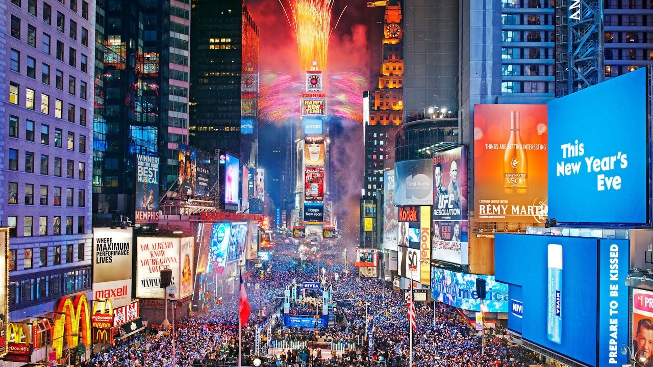 Image result for times square new york new year fireworks