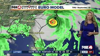 Hurricane Florence update - 6am Tuesday