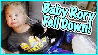 baby rory gets hurt at the sleepover party family vlog