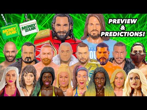 WWE MONEY IN THE BANK 2019 PREDICTIONS! WWE FIGURES!