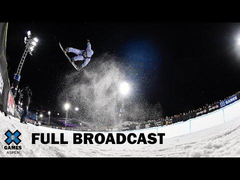 Monster Energy Men's Snowboard SuperPipe: FULL BROADCAST | X Games Aspen 2020