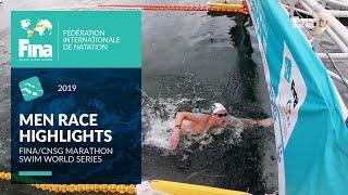 Highlights Men's Race | FINA /CNSG Marathon Swim World Series 2019