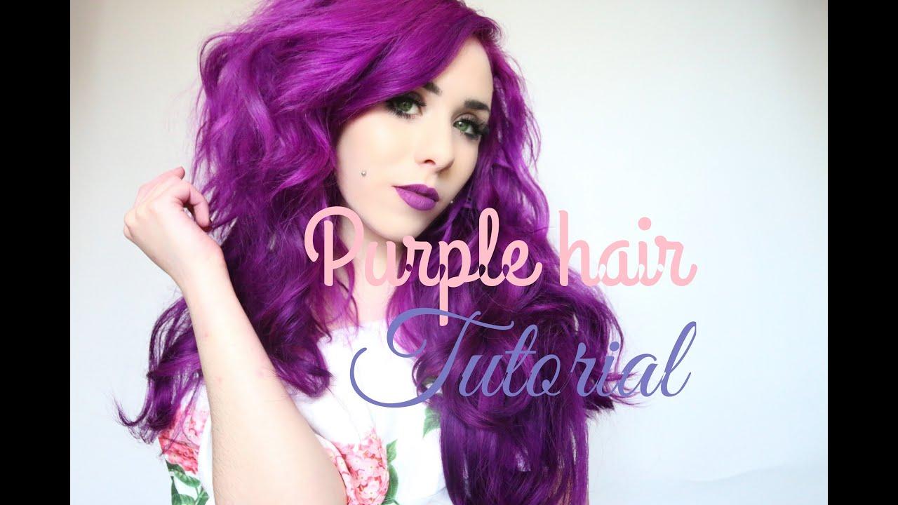 Purple Hair Dye Tutorial By July Langdon Arctic Fox Hair Color