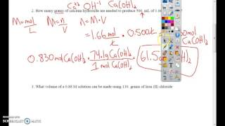 5 0 chemistry solutions molarity