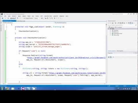Authorize and Post on Facebook using ASP.Net C#