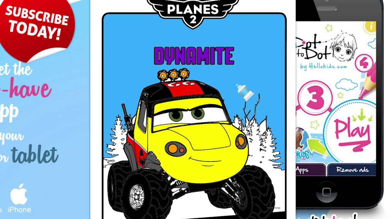 how to color dynamite coloring book disney movie planes coloring